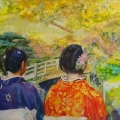 Two women in the Imperial Garden