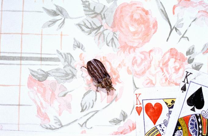 Cottage evening - Watercolour - 7 x 9