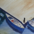 Blue Boats- Sherwood, Wendy 7 x 9 in WC