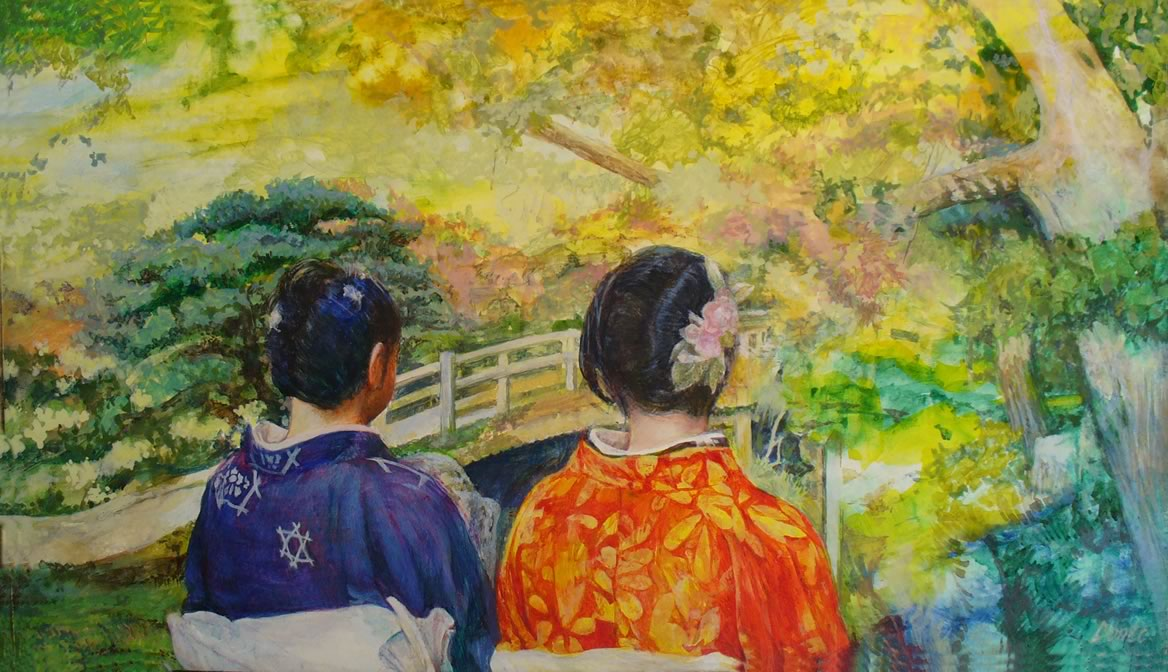 Two women in the Imperial Garden