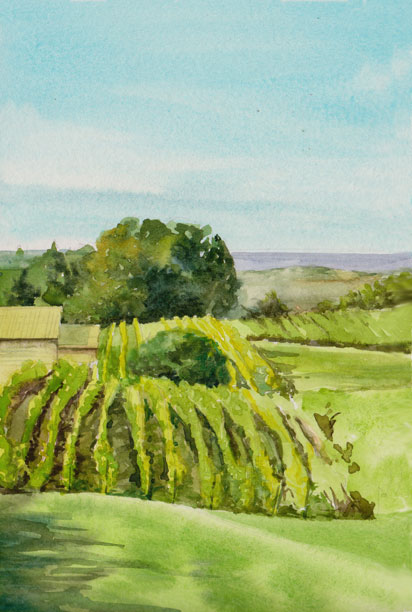 Tawse Winery - Watercolour 6 x 9 - SOLD
