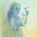 A Wish - watercolour, 22 x 36 - NFS