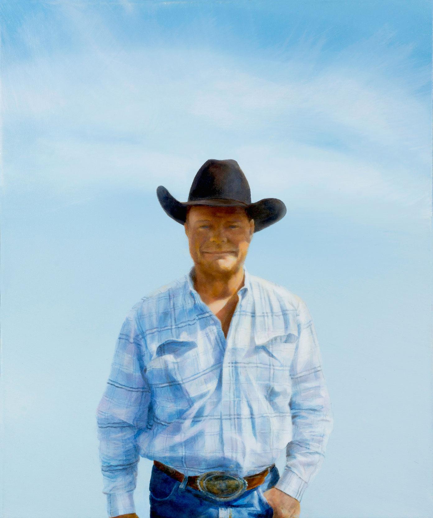 Blue cowboy portrait of Marc - 20 x 24\