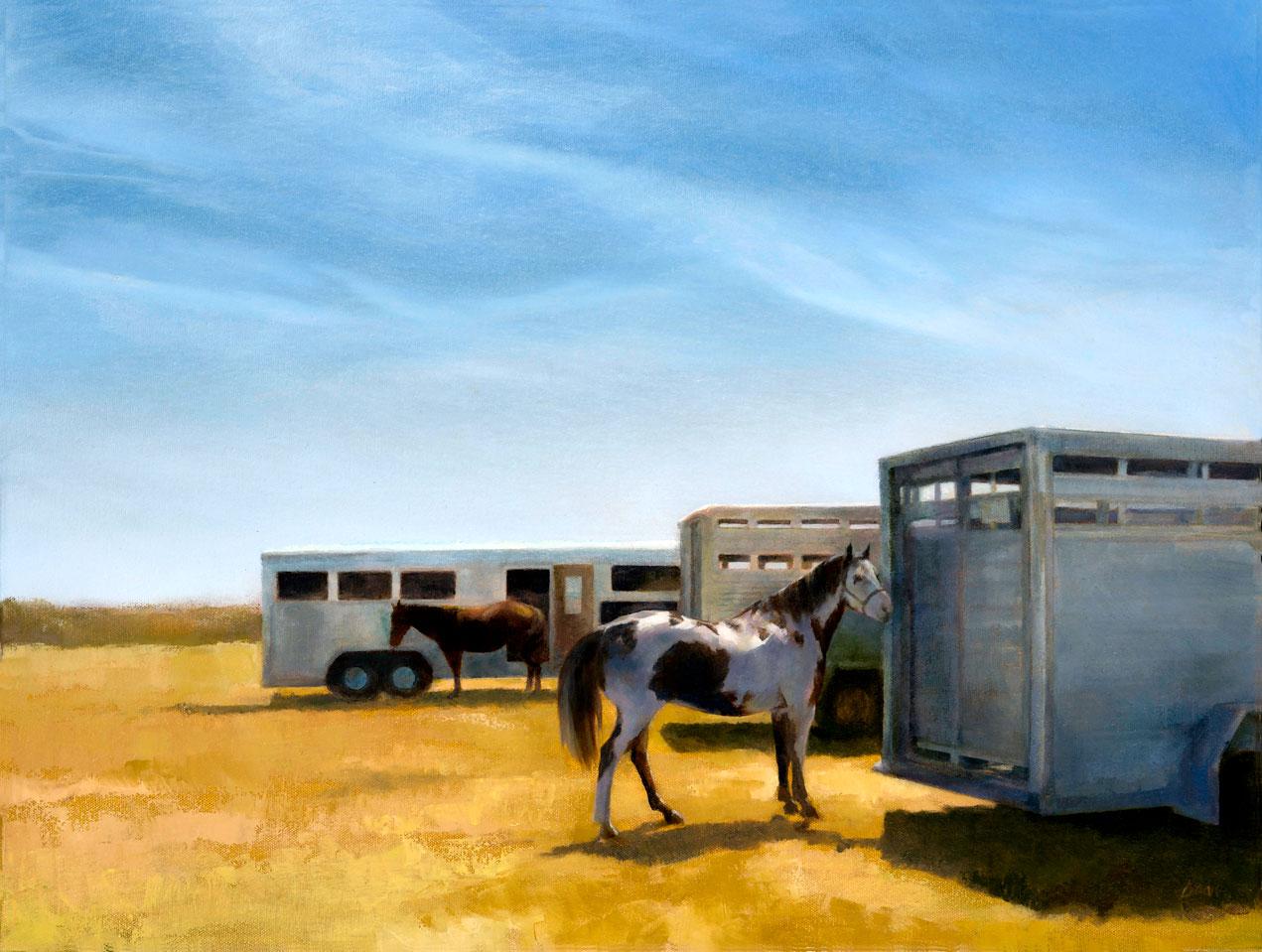 Painted pony - 18 x 24\
