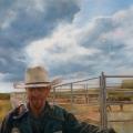 "Champion bull rider - 18 x 24"" oil on canvas - $1700.00"